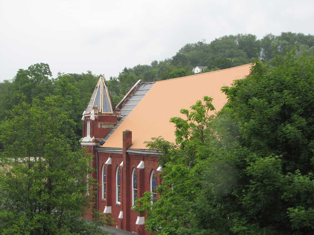 Reroofing a Church