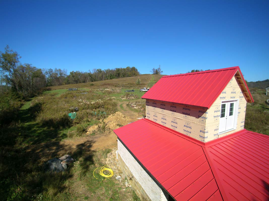 New red metal roofing